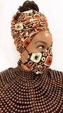 Brownstone Washable Face Masks+Headwrap