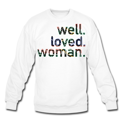 Well Loved Woman Crewneck Sweatshirt - white