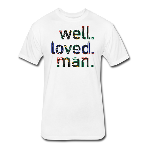Well Loved Man Fitted Cotton/Poly T-Shirt - white