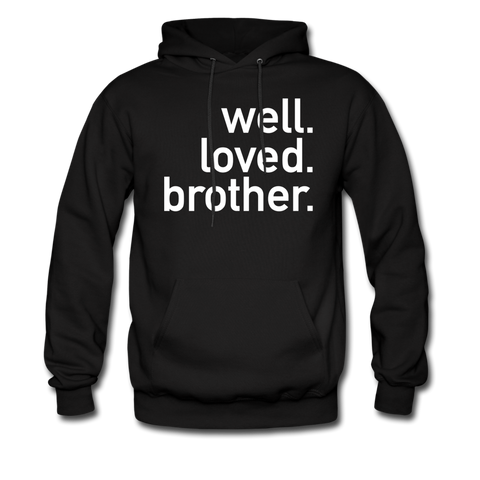 Well Loved Brother Hoodie - black