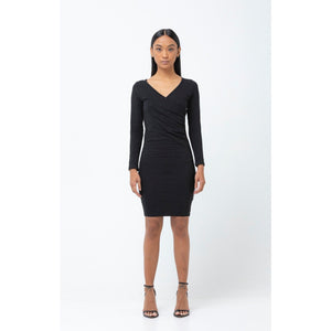 The Wrap Dress - Black - THE LABEL