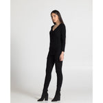The Wrap Top - Black - THE LABEL