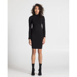 THE MOCK NECK DRESS, BLACK
