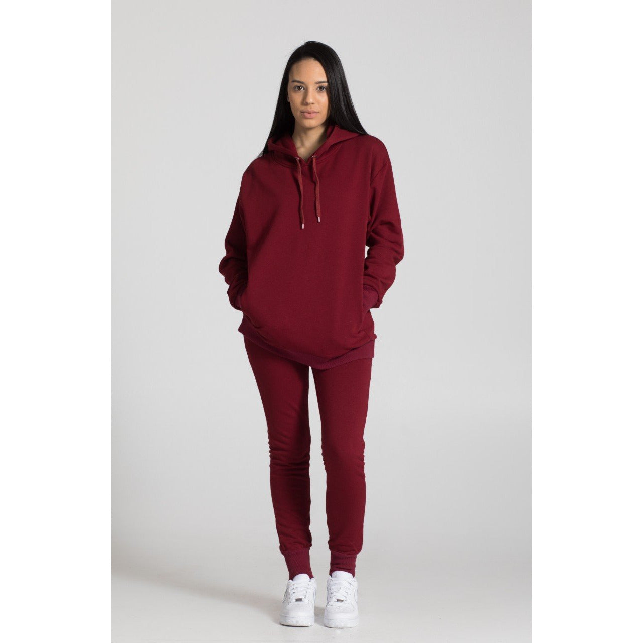 The Unisex Hoodie, Oxblood - THE LABEL