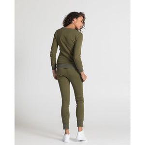 The Sweatshirt - Olive - THE LABEL