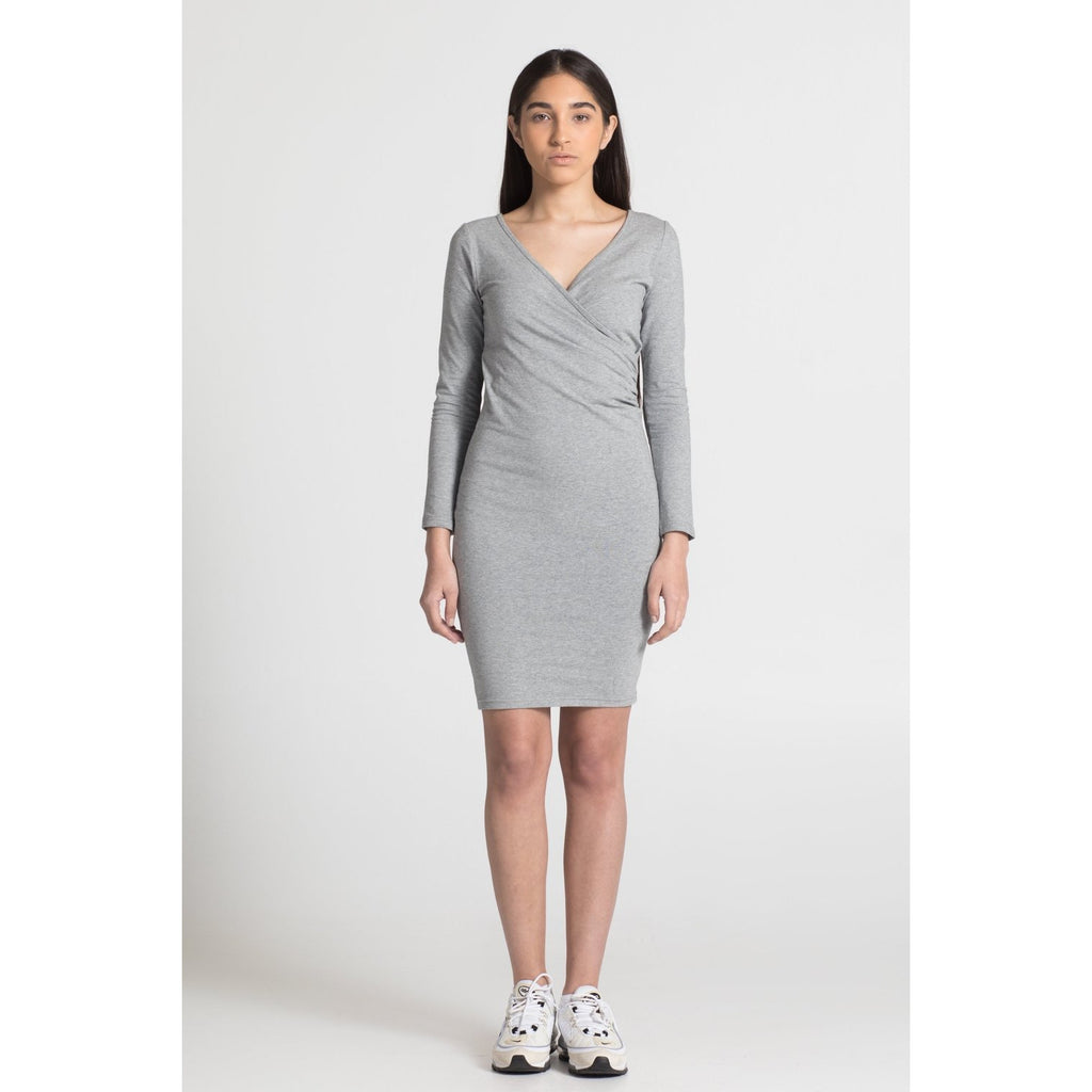 The Wrap Dress - Grey