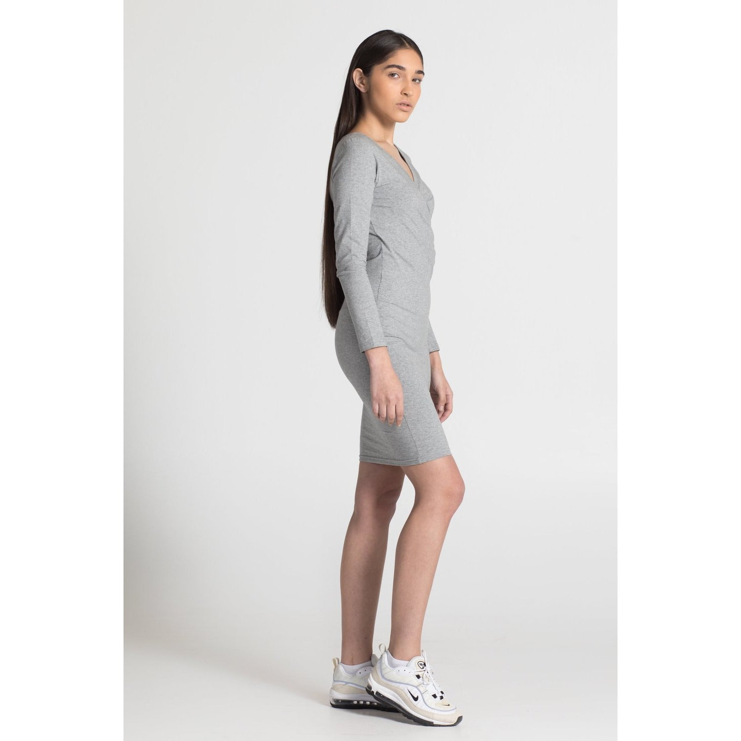 The Wrap Dress - Grey - THE LABEL