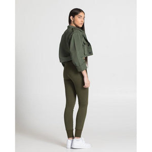 The Cropped Jacket - Olive.