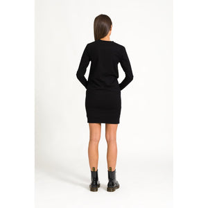 The Sweatshirt Dress - Black - THE LABEL