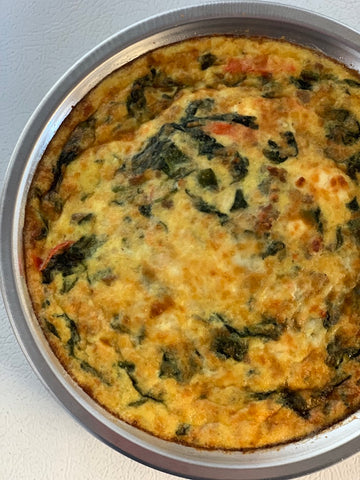 Sausage & Veg Crustless Quiche