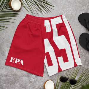 """BIG 650"" Unisex Athletic Long Shorts (RED/WHITE)"