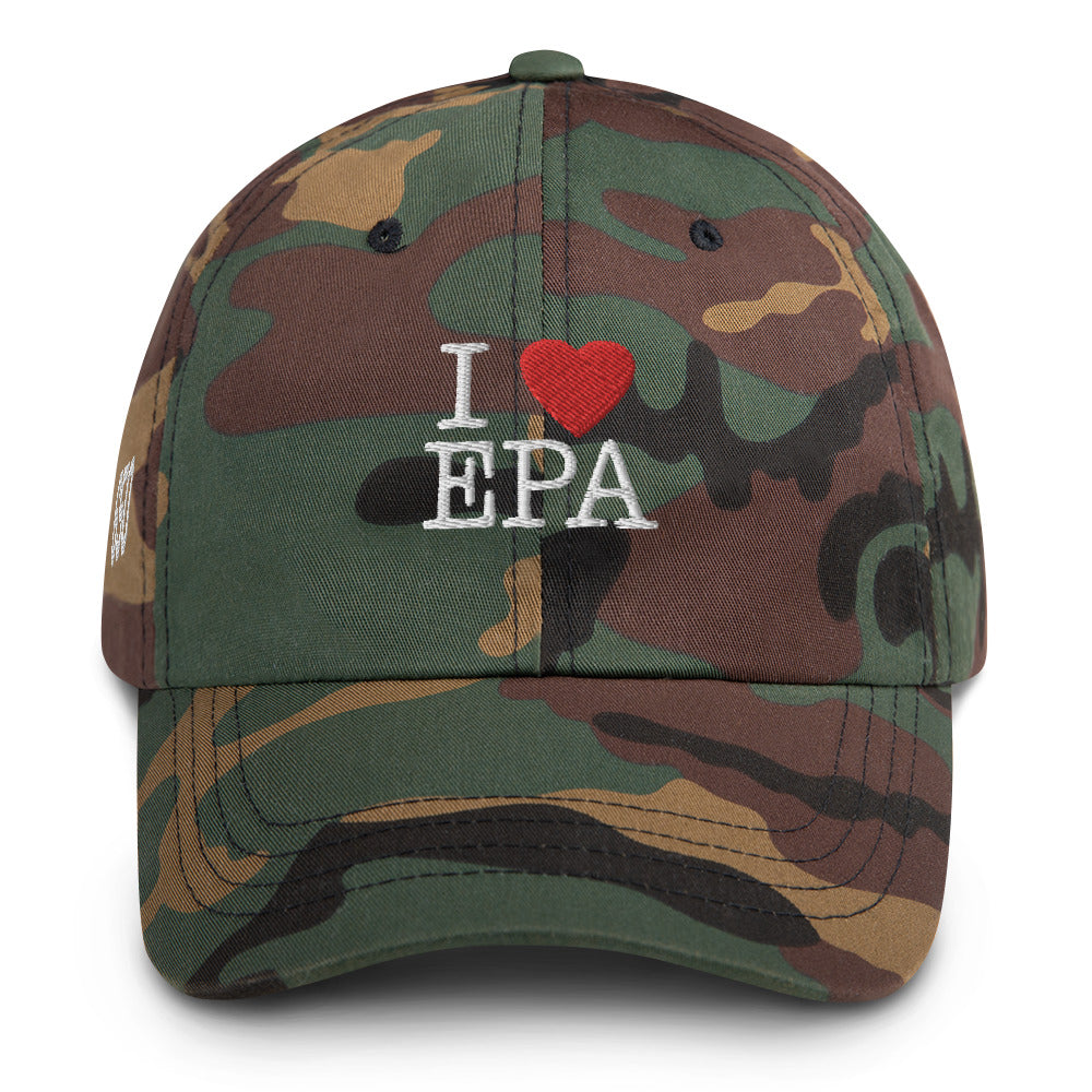I Love Epa Dad hat