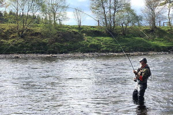 Back on the river fishing the Dee, Scotland