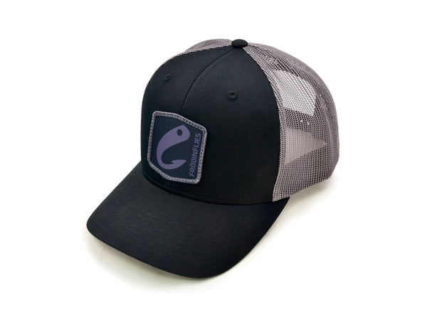 Black/Steel Grey 'Logo' Trucker Hat
