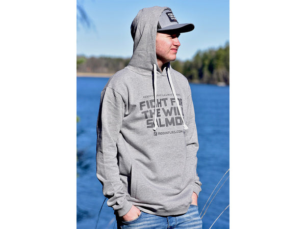 Light Grey 'Wild Salmon' Hoodie