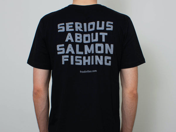 Organic Black 'Salmon Fishing' Tee