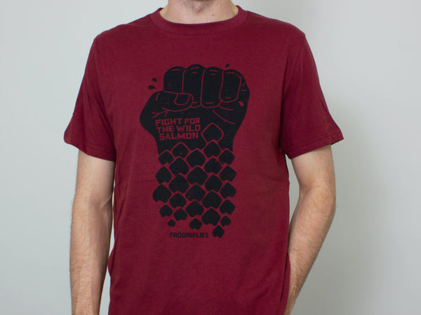 Organic Red Wine 'Wild Salmon' Tee