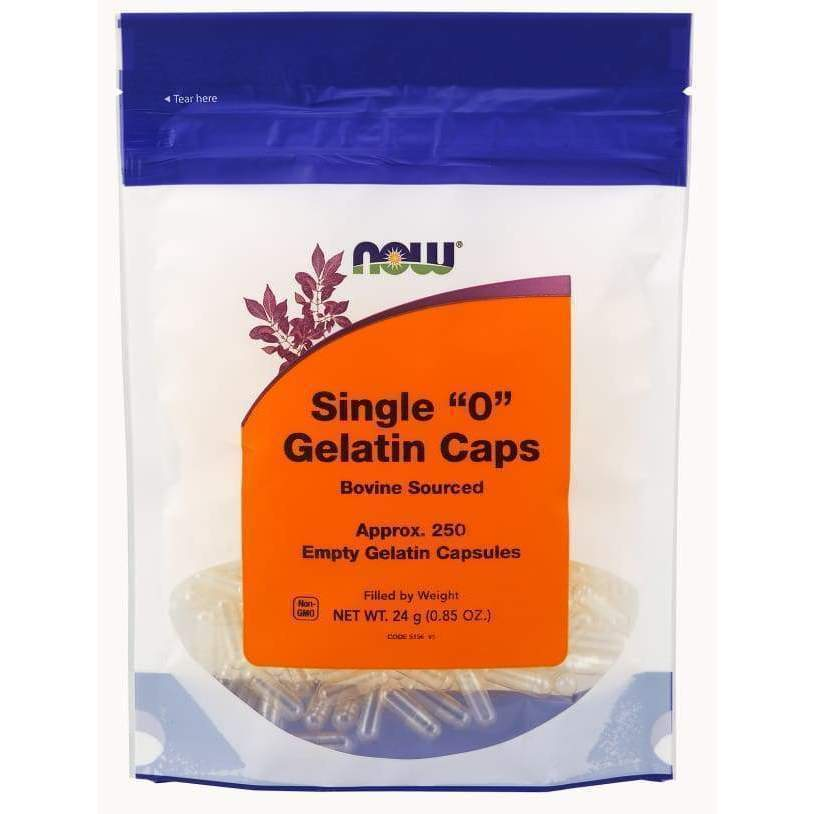1000 Empty Gel Caps '0' - Now Foods - Earthly Nutrition