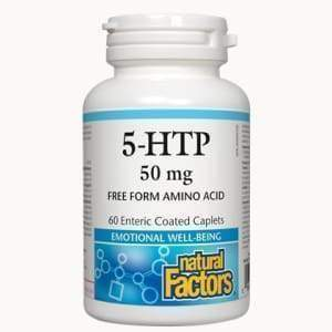 5-HTP 50 mg, 60 Enteric Coated Caplets - Earthly Nutrition