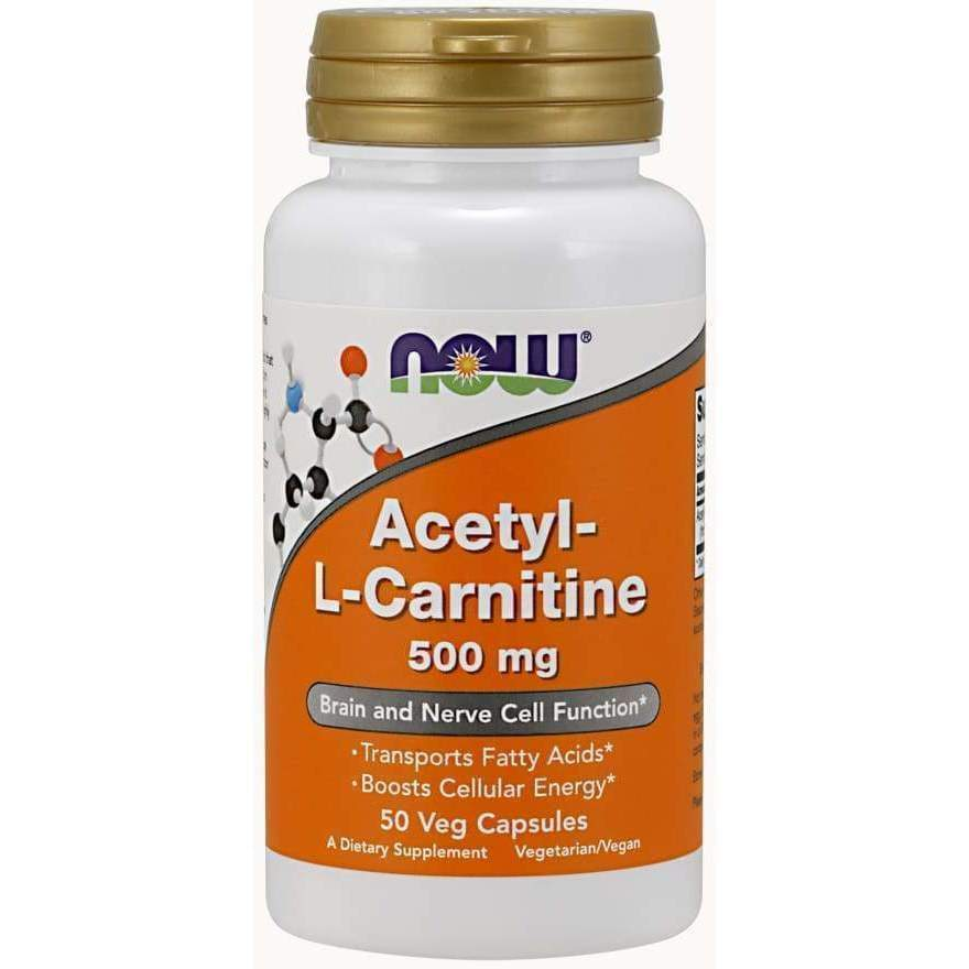 Acetyl L-Carnitine 500 mg 200ct - Now Foods - Earthly Nutrition