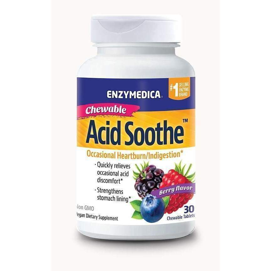 Acid Soothe Berry 30 chewable tablets - Earthly Nutrition