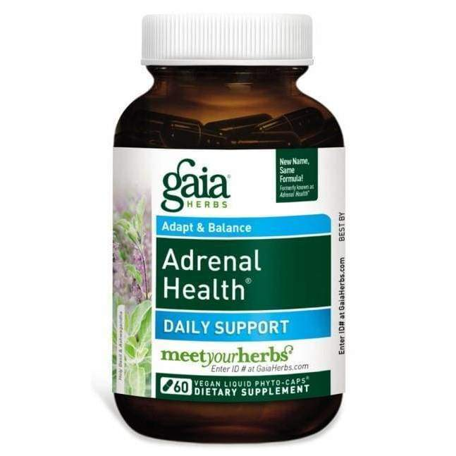 Adrenal Health Daily Support 60 vcap - Gaia Herbs - Earthly Nutrition