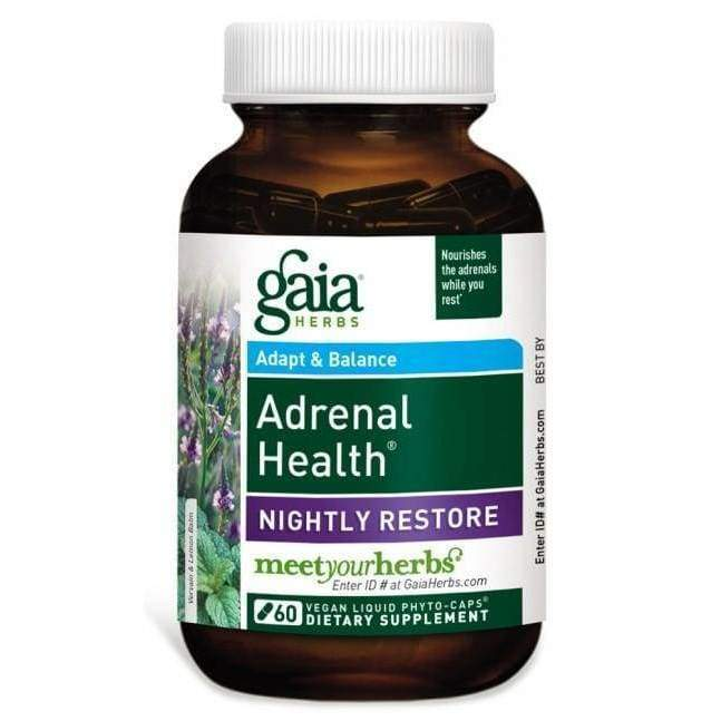 Adrenal Health Nightly Restore 60 vcap - Gaia Herbs - Earthly Nutrition