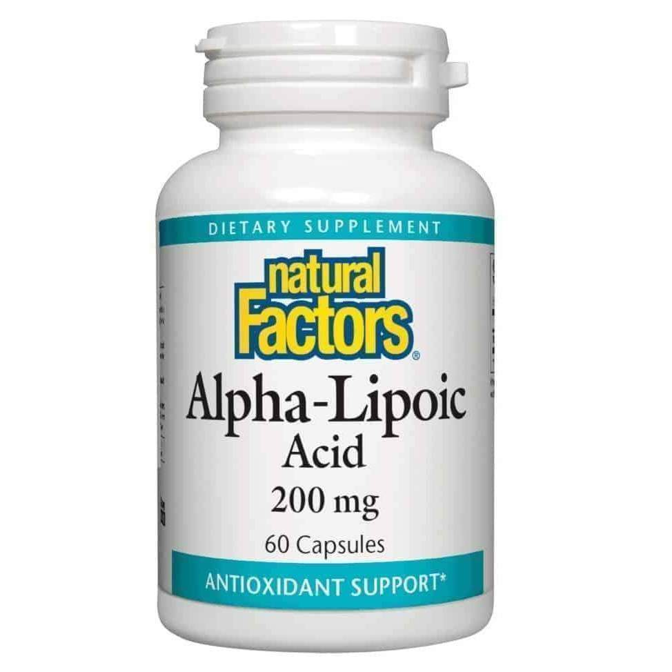 Alpha Lipoic Acid 200 mg 60 Capsules – Natural Factors - Earthly Nutrition