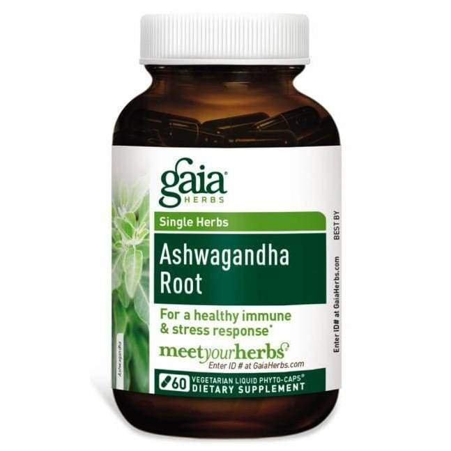 Ashwagandha Root 60 Capsules - Gaia Herbs - Earthly Nutrition
