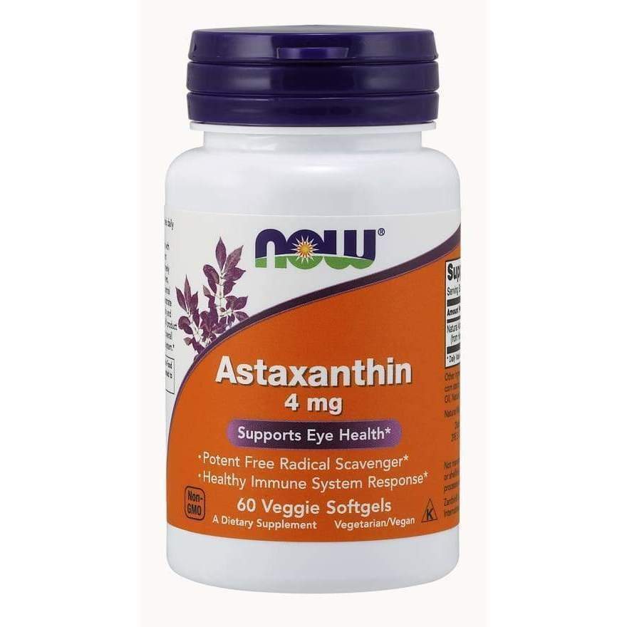 ASTAXANTHIN 4 MG 60 VEG SGELS - Earthly Nutrition