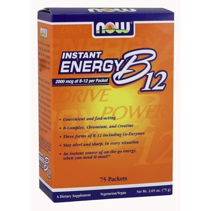 B-12 INSTANT ENERGY PACKETS 75/BOX - Earthly Nutrition
