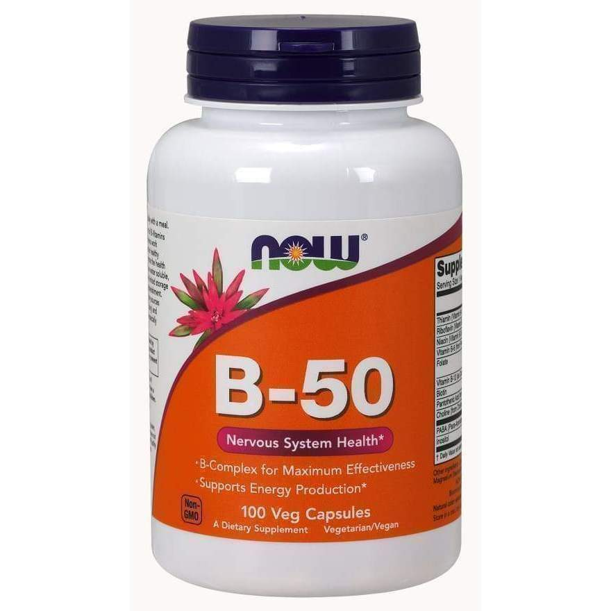 B-50 250 VegCaps - Now Foods - Earthly Nutrition
