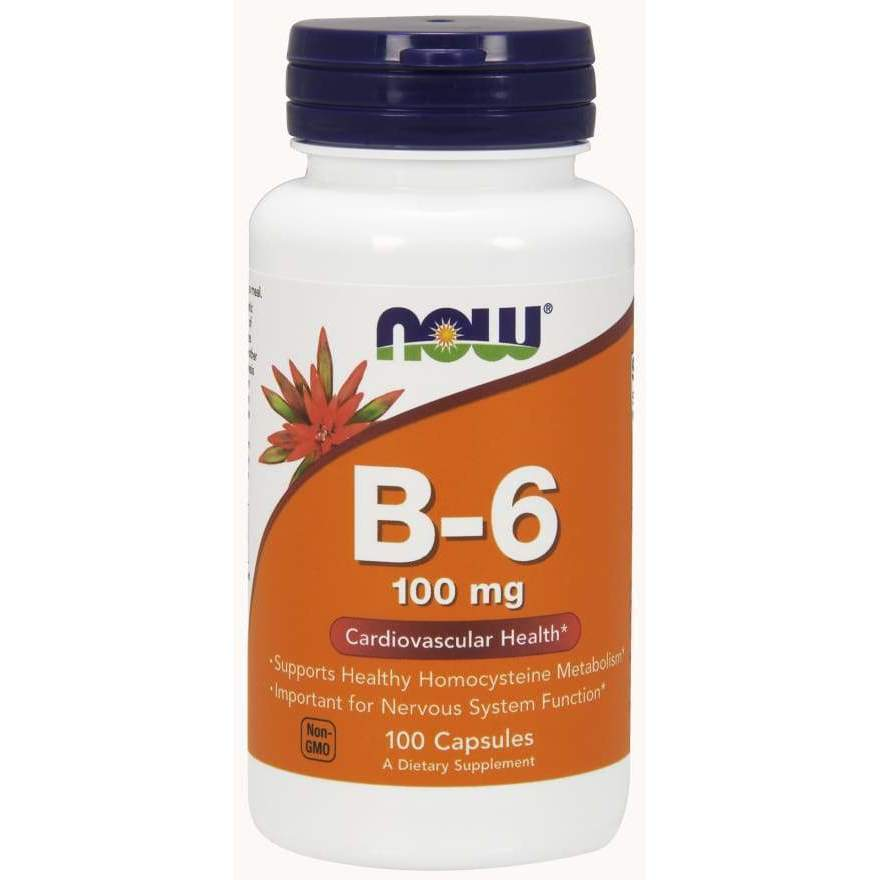 B-6 100 mg 100 Caps - Now Foods - Earthly Nutrition