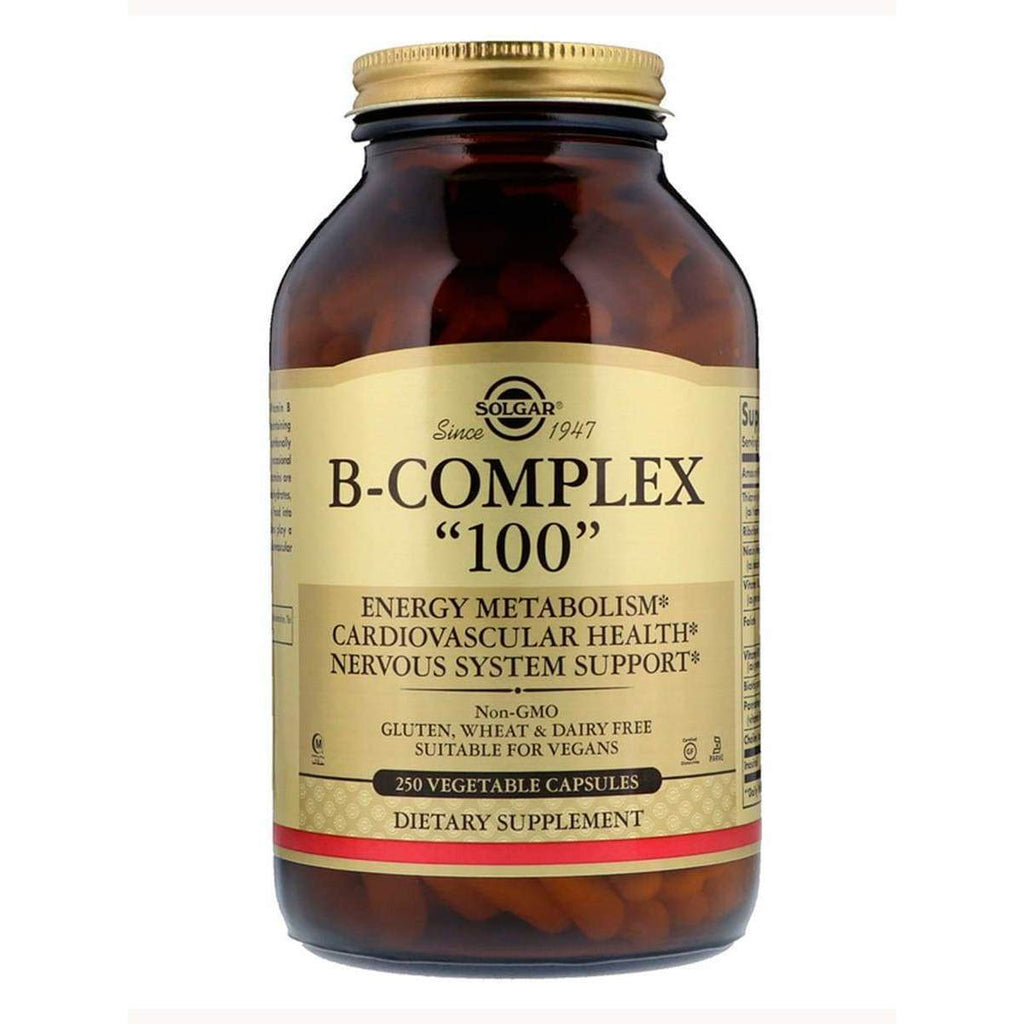 B-Complex 100 250 Capsules - Solgar - Earthly Nutrition