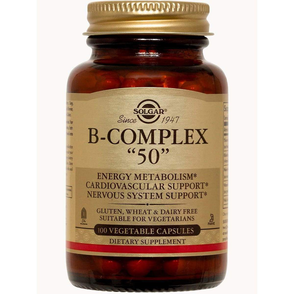 B-Complex 50 100 Capsules – Solgar - Earthly Nutrition