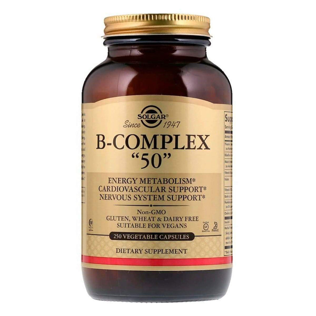 B-Complex 50 250 Capsules - Solgar - Earthly Nutrition