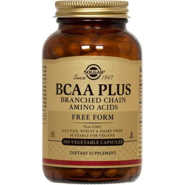 BCAA Plus Free Form 100 vcap - NPG/Solgar - Earthly Nutrition