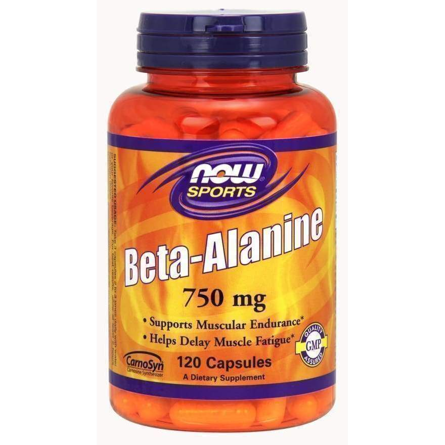 Beta Alanine 750 mg 120 VegCaps - Now Foods - Earthly Nutrition