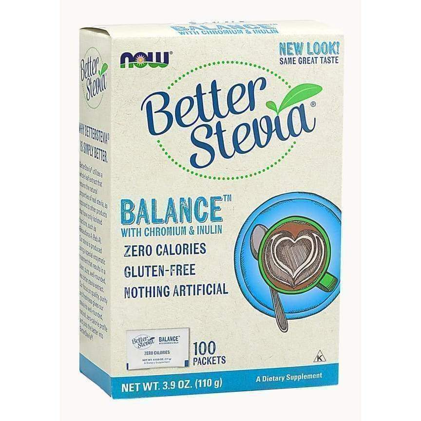 BETTER STEVIA BALANCE PACKETS 100/BOX - Earthly Nutrition