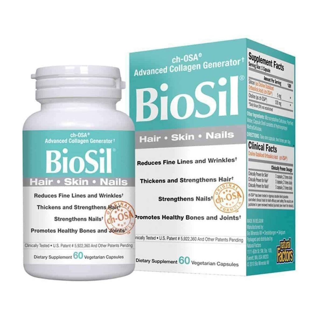 BioSil Collagen Hair, Skin, Nails, 60 Vegetarian Capsules - Earthly Nutrition