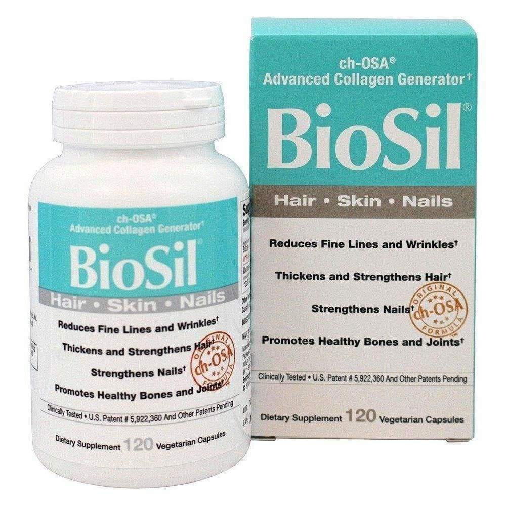BioSil Collagen Skin, Hair, Nails, 120 Vegetarian Capsules - Earthly Nutrition