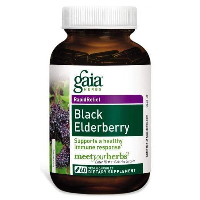 Black Elderberry 60 vcap - Gaia Herbs - Earthly Nutrition