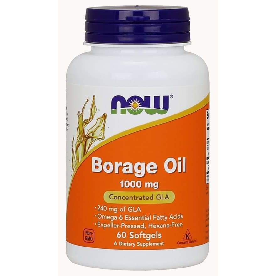 Borage Oil 120 Gels - Now Foods - Earthly Nutrition