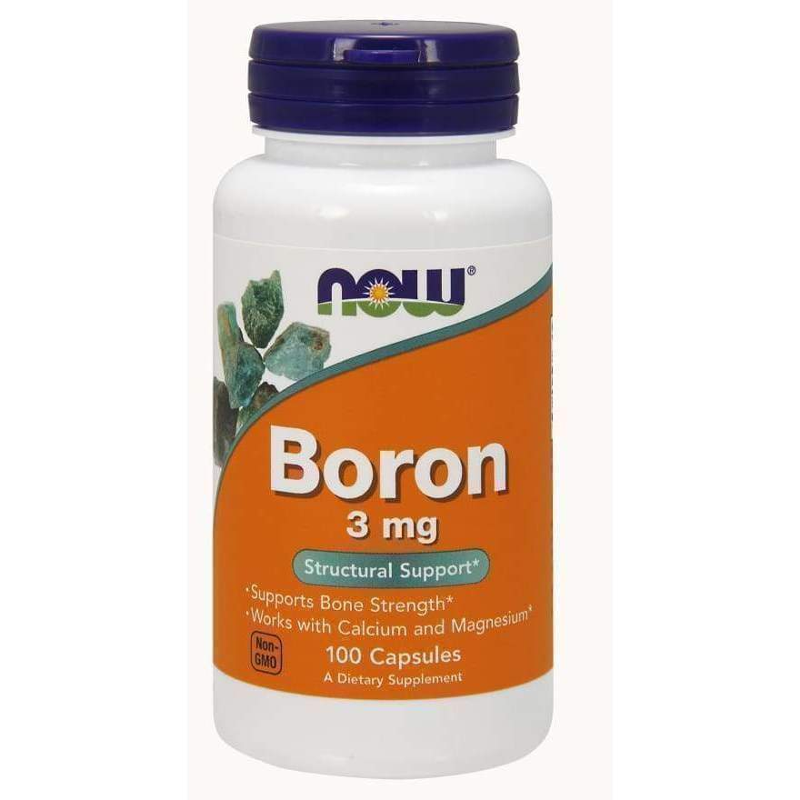 BORON 3mg 100 CAPS - Earthly Nutrition