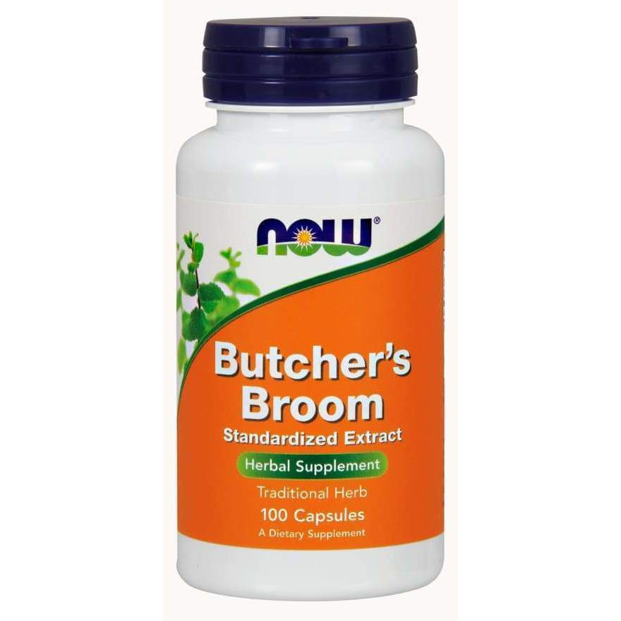 BUTCHER'S BROOM 100MG 10% EXT 100 CAPS - Earthly Nutrition