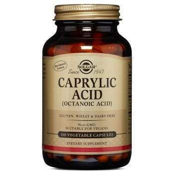 Caprylic Acid 100 Vegetable Capsules - Earthly Nutrition