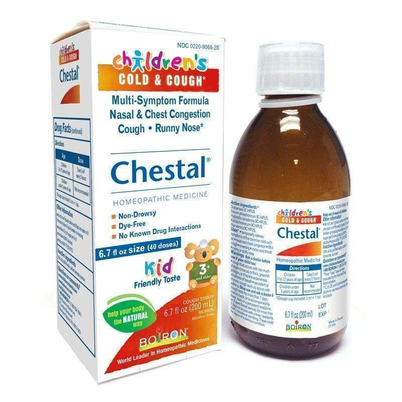 Chestal Childrens cough relief syrup 6.7 oz - Boiron - Earthly Nutrition