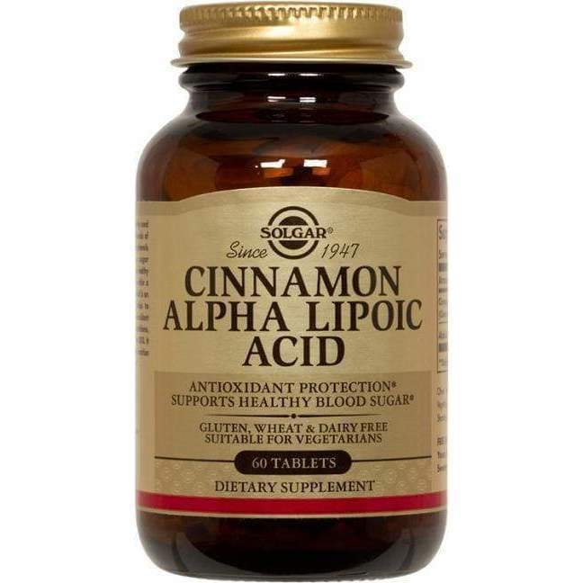 Cinnamon Alpha Lipoic Acid 60 veg tab - NPG/Solgar - Earthly Nutrition