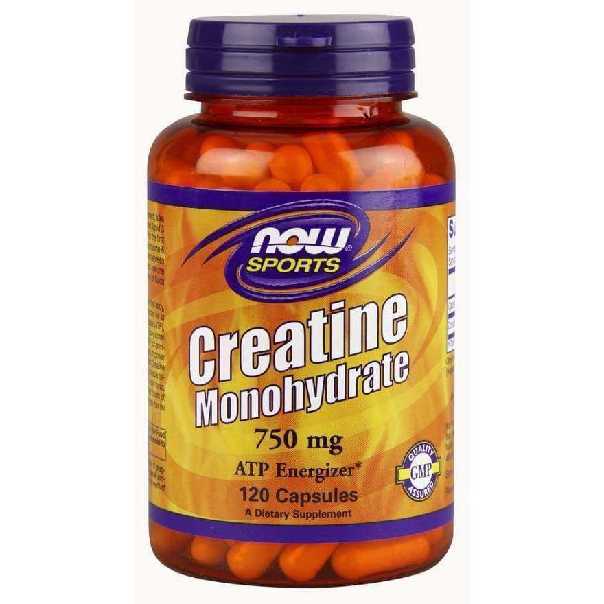 Creatine 750 mg 120 Caps - Now Foods - Earthly Nutrition