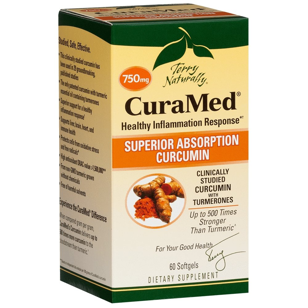 CuraMed 750 mg, 60 softgels - Earthly Nutrition